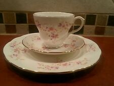 DUCHESS BONE CHINA ENGLAND Trio SPINNEY TEA CUP & SAUCER & lunch / Dessert plate