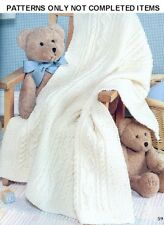 33 Baby Afghans Knitting PATTERNS  Lacy Snowman Aran Ripple Cable Hearts