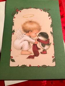 Christmas Card Angel And Bird By Ruth Morehead Unused+env