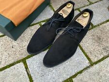 Edward Green Black Suede Chale Chukka Boots UK 9 E 82 Last Rubber sole worn once