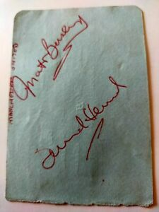 Sir Matt Busby and David Herd Manchester United Signed Autograph Page