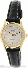 Casio LTP1094Q-7A Ladies Casual Analog Watch Genuine Leather Band Gold Case