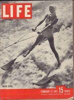 Life Magazine February 17 1947 Birthday Water Skier VG 060316DBE