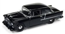1/64 JOHNNY LIGHTNING 1955 Chevrolet in Gloss Black
