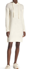 Nordstrom Solutions! Brand Drawstring Hoodie Wide Ribbed Dress NWT-L