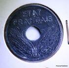 MONNAIE FRANCE 10 centimes ETAT FRANÇAIS 1941 grand module ZINC AC406