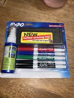 Expo Low Odor Dry Erase Marker Set with White Board Eraser and Cleaner Pre Order