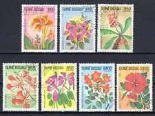 Flore - Fleurs Guinée Bissau (104) série complète de 7 timbres oblitérés