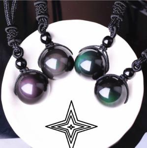 Schwarz Natur Turmalin Stein Anhänger Halskette Kristall Edelstein Armband