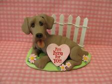 "Handsculpted Weimaraner Dog ""I'm here for you"" Figurine"