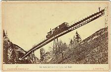 Format Cabinet : Charnaux Frères : Chemin de fer de Rigi , vers 1880