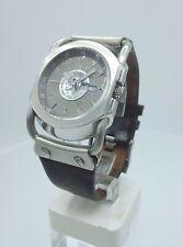 Diesel DZ9027 Rare silver dial analog men's watch solid steel DZ-9027 10ATM
