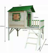 Spielhaus für Kinder mit Balkon Stelzenhaus Garten Baum Turm Holzhaus
