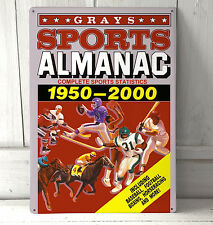 Back to the Future Sports Almanac metal movie A4 sign wall art