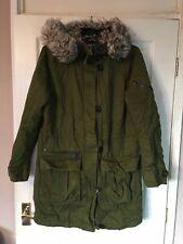 Women hooded parka jacket size 8 TOPSHOP