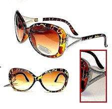 2 Pair Tortoise Brass & Crystal Sunglasses By Foster Grant Gradient Lens MSRP$48