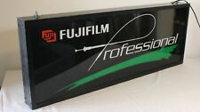 FujiFilm Professional Sign Lighted Double Sided Camera Store Advertising Fuji