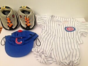 Build a Bear Workshop Baseball Uniform Outfit Sport MLB Chicago Cubs Lot