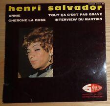 Henri Salvador: Annie + 3.'65 French EP on Disques Salvador 434 825
