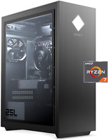 HP OMEN 25L Gaming Desktop PC 3700X 8-Core 16GB 512GB SSD Glass Side NO GPU