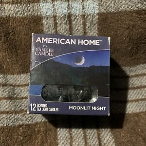 YANKEE CANDLE AMERICAN HOME TEALIGHTS MOONLIT NIGHT - BOX OF 10 - OPEN BOX