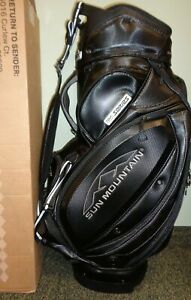 New Sun Mountain TOUR SERIES STAFF CART Golf Bag, BLACK, 4-Way Top, 10.5""