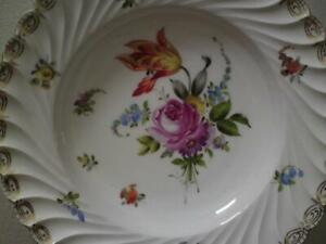 19th century Hand Painted Carl Thieme Potschappel Dresden Porcelain Plate