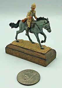 Hand Painted Lead Metal Mounted British Miniature Toy Soldier & Custom Wood Base