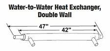 Central Boiler Water-to-Water Heat Exchanger, Double Wall 42""