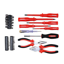 39Pcs Electrician's Insulated Magnetic Electrical Hand Screwdriver Tool Set New