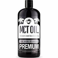 100% PURE MCT Oil (Raise Ketones C8 & C10 MCTs) Keto & Paleo Weight Loss - 8oz