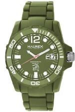 NEW Haurex Italy V7354UVV Men's Caimano Date Green Dial Plastic Sport Watch 200M