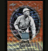 2019 Leaf Metal Babe Ruth Authentic Yankee Stadium Seat Orange Prizm 3/3 (WI)