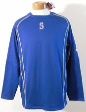 NWT Majestic Seattle Mariners Mens OnField Pullover Sweatshirt XL Blue MSRP$80