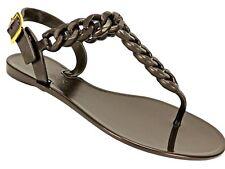 GUESS Women's Jessa Embellished Flat Thong Sandals Bronze Size 9 M