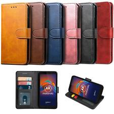 For Motorola Moto E6 Play Case Leather Wallet Book HeavyDuty Protection Cover
