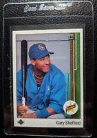 1989 UPPER DECK #13 GARY SHEFFIELD ROOKIE CARD RC MILWAUKEE BREWERS NM-MT