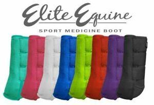 ELITE EQUINE Showman SPORT MEDICINE Splint BOOTS Full Horse Size (Set of 2)