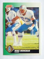 Mike Munchak #256 Score 1991 Football Card (Houston Oilers) VG