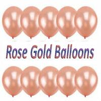 "Rose Gold  5""10""12"" INCH Confetti Latex Balloons Set Wedding Birthday Hen Party"