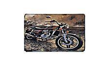 Cx650 Custom Motorbike Sign Metal Retro Aged Aluminium Bike