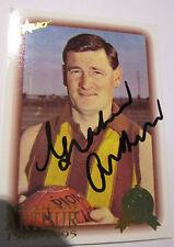 Hawthorn - Graham Arthur  signed AFL Hall of Fame Card + Photo Proof & COA