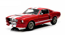 Greenlight 1967 Shelby GT-500 Red with White Stripes (with Shelby Hood) 1/18