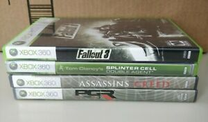 4 XBOX 360 Games (Fallout 3, Splinter Cell, Assassins Creed, PGR3)