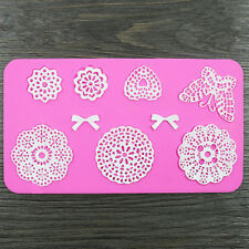 Heart Bow Butterfly Flower Silicone Lace Mat Mold Fondant Chocolate Cupcake Cake