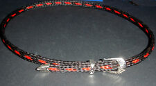 Western Cowboy/Cowgirl HAT BAND Black/Red Horsehair Buckle