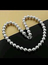 Ball Bracelet / Bangle / anklet 925 Stamped Silver lady men friend BIRTHDAY gift