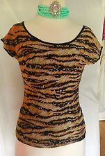 Dolce And Gabbana Womans Tiger Print Top/Shirt Sz M