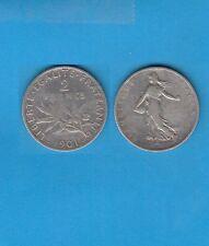 Gertbrolen Type Semeuse  2  Francs en  argent 1901  Silver Coin
