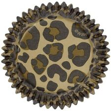 75 WILTON LEOPARD CUPCAKE LINERS BAKING CUPS PARTY SUPPLY FAVORS ANIMAL PRINT